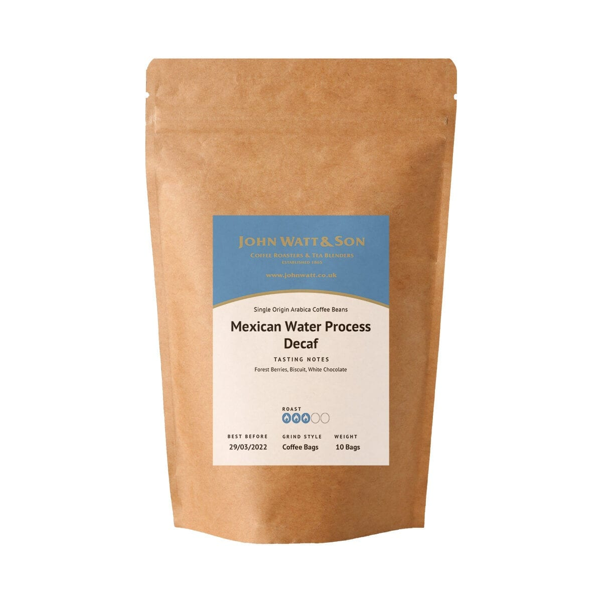 Decaf coffee bags - Mexican Water Process