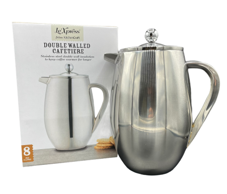 8 Cup Stainless Steel Cafetiere