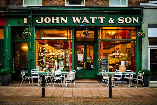 Coffee Shops Carlisle - John Watt and Son, Bank Street.